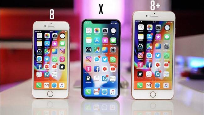 iPhone 8 nhẹ hơn iPhone X hoặc XS