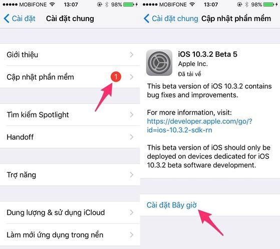 bản cập nhật iOS mới thường giúp tăng tốc và cải thiện hiệu hiệu suất tổng thể trên thiết bị