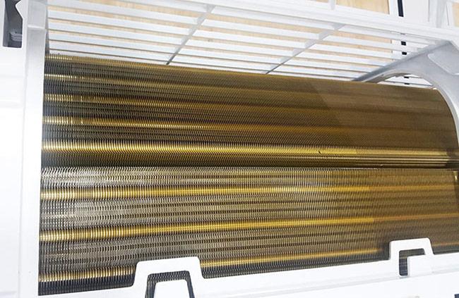 Dàn lạnh mạ vàng giúp tăng độ bền của máy.