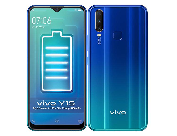Mức pin 5.000 mAh cho phép Vivo Y15 trụ được hai ngày mà không cần cắm sạc.