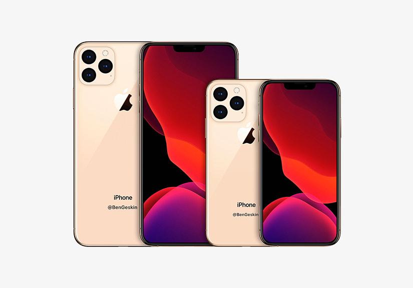Ảnh dựng iPhone 2020 với cỡ màn hình mới