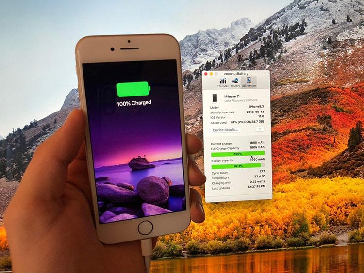 Duy trì iPhone đầy 100% pin: Duy trì mức pin luôn đầy 100% không phải là cách sử dụng pin tốt.