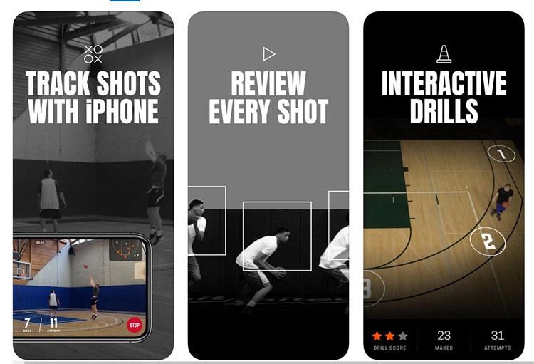 HomeCourt - ứng dụng được Apple đáng giá đã tạo nên cuộc cách mạng trong việc luyện tập bóng rổ. Ứng dụng này tích hợp AI, có thể theo dõi quá trình luyện tập, đếm số lần ném bóng, kiểm tra tư thế và các thao tác khác nhằm đưa ra dự đoán về tình trạng sức khỏe hiện tại của người dùng. Phần mềm còn đưa ra những lời khuyên giúp người dùng tập luyện tốt hơn. HomeCourt được phát triển bởi NEX Team Inc (Mỹ), miễn phí trên App Store.