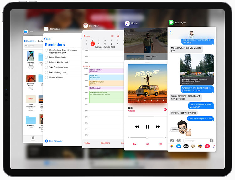 iPadOS được tùy biến dựa trên iOS, hỗ trợ nhiều tính năng cho các thiết bị màn hình lớn. Ảnh: Apple
