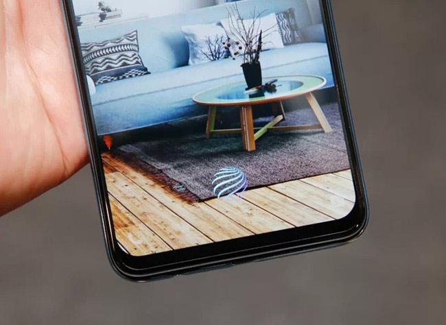 Samsung Galaxy A50, máy cũng hỗ trợ cảm biến vân tay dưới màn hình