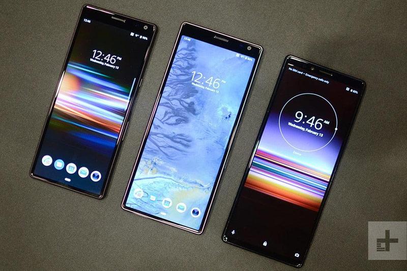 Bộ 3 smartphone Sony mới trong năm nay gồm Xperia 1, Xperia 10 và Xperia 10 Plus. Ảnh: Digital Trends.