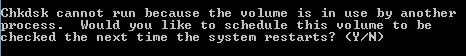 Quét kiểm tra ổ cứng khi khởi động