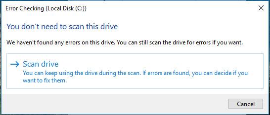 Cách kiểm tra ổ cứng bị bad sector trên Windows không cần phần mềm
