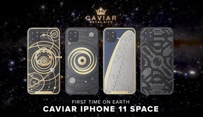 Caviar sẽ tạo ra 4 phiên bản cao cao cấp của iPhone 11, lấy cảm hứng từ vũ trụ. Các model này sẽ có giá từ 4.400 USD - 49.000 USD.