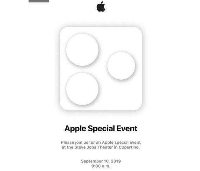Apple sẽ tổ chức sự kiện ra mắt iPhone 11 vào lúc 9h sáng, ngày 10/9 tại Nhà hát Steve Jobs, trong khuôn viên trụ sở Apple Park ở Cupertino, California.