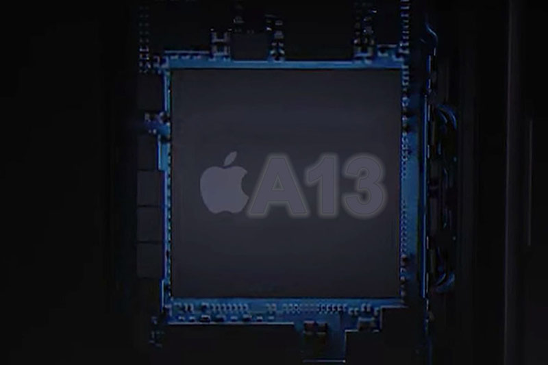 Chip A13 hứa hẹn tiếp tục làm át chủ bài trong cuộc đua tốc độ với các hãng điện thoại khác. Ảnh: Macworld.