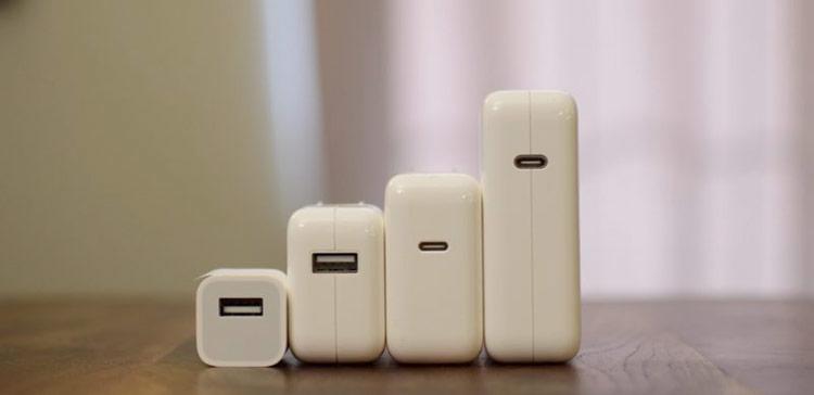 Đã hỗ trợ sạc nhanh nhưng iPhone đời mới lại không có sẵn phụ kiện tương thích. Người dùng phải bỏ ra trên 1 triệu đồng mới có thể sạc nhanh như những điện thoại Android. Ảnh: iDownload.