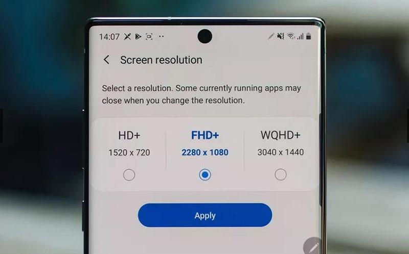 Ngoài khác biệt về kích thước, 2 model này còn sở hữu độ phân giải màn hình không giống nhau. Theo đó, Galaxy Note10 được trang bị độ phân giải Full HD+, còn Galaxy Note10+ đạt mức 2K.