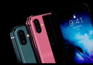 Sản phẩm có 3 màu sắc để lựa chọn là đen, hồng và xanh được điểm xuyết thêm màu đỏ từ nút gạt rung. Bao quanh máy là đường viền benzel mỏng. Những chiếc điện thoại gập của các hãng khác đều có giá gần 2.000 USD, nên nếu chiếc iPhone 11 Fold này thành sự thực, chắc chắn cũng sẽ có giá không rẻ.