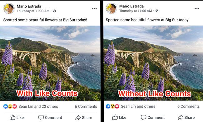 Facebook bắt đầu thử nghiệm ẩn số lượt Like