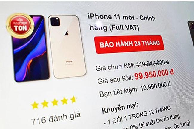 iPhone 11 được rao giá 100 triệu đồng