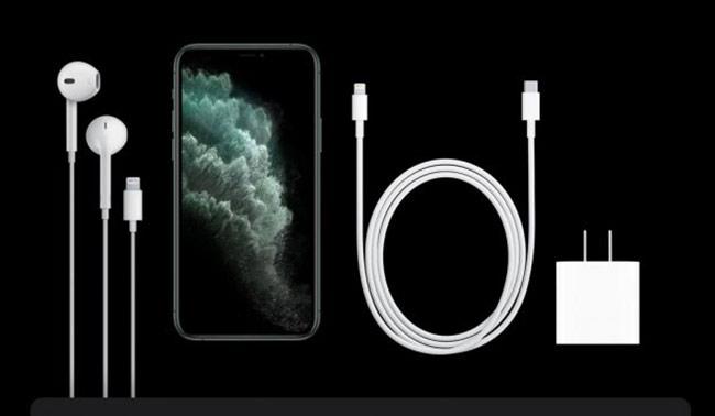 Bộ sạc nhanh 18 W của iPhone 11 Pro và 11 Pro Max.