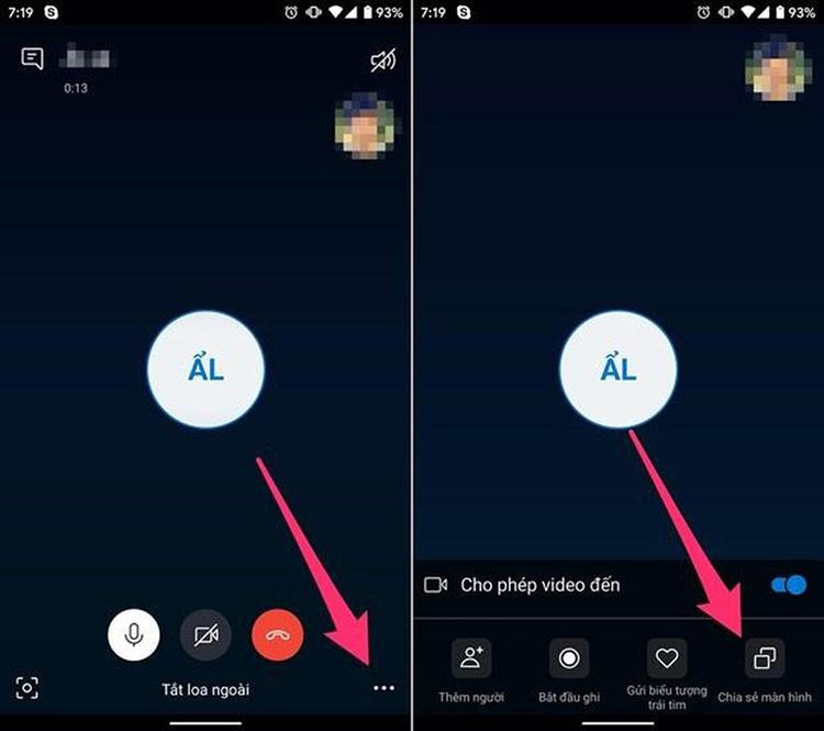 Trên Android, bạn sẽ thấy một thông báo nhỏ xuất hiện trên màn hình cảnh báo về việc bảo vệ các nội dung nhạy cảm, hãy bấm nút Start now (Bắt đầy ngay) và đợi cho đến khi biểu ngữ Sharing screen (Đang chia sẻ màn hình) xuất hiện ở phía trên cùng của màn hình, trước khi chuyển sang ứng dụng khác.