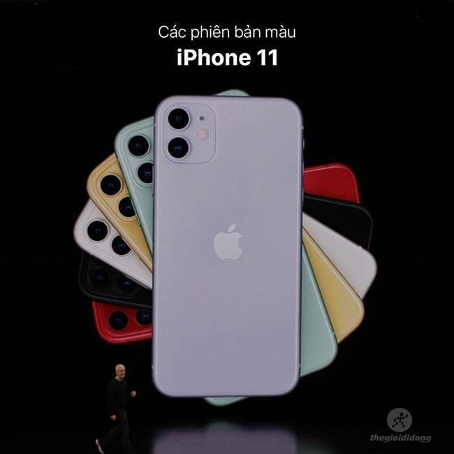 Các phiên bản màu iPhone 11.