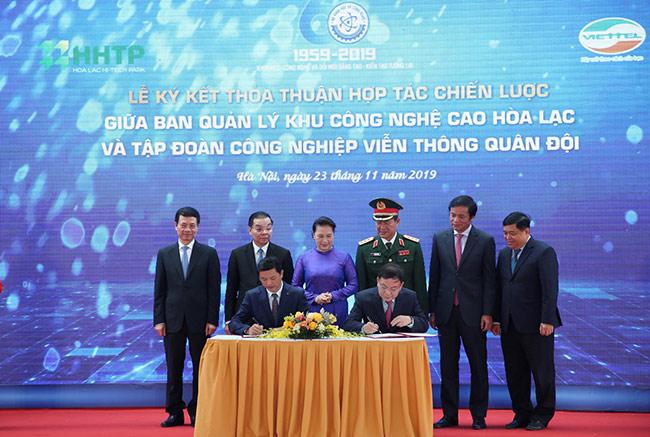 Viettel sẽ xây dựng Tổ hợp sản xuất công nghiệp công nghệ cao tại Khu CNC Hòa Lạc