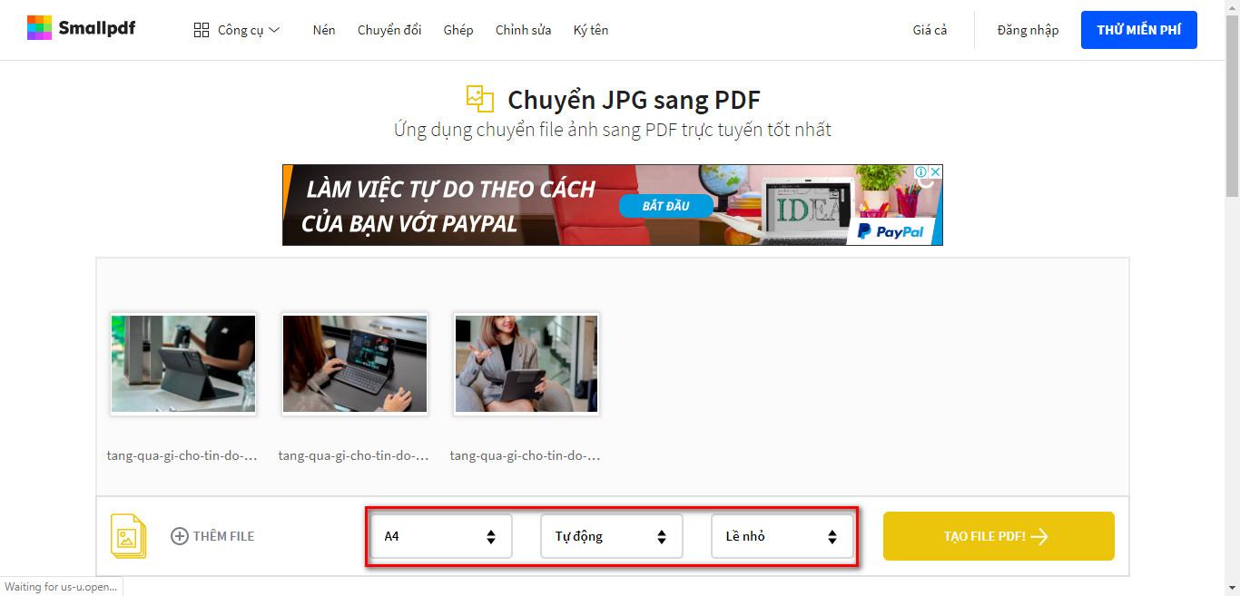 Cách tạo file pdf từ nhiều hình ảnh rất đơn giản