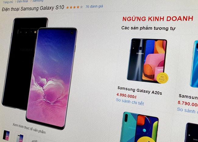 Galaxy S10 ngừng bán tại nhiều hệ thống.
