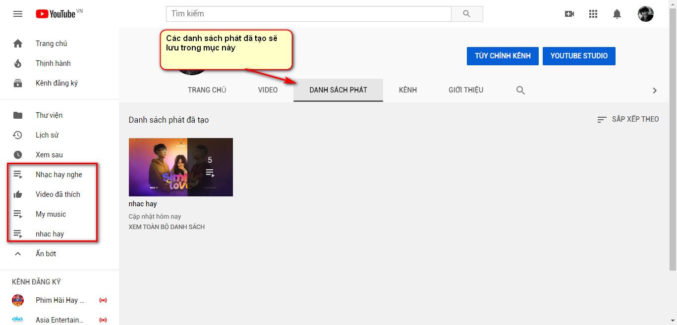 Tạo danh sách video yêu thích trên Youtube chỉ bằng các bước đơn giản