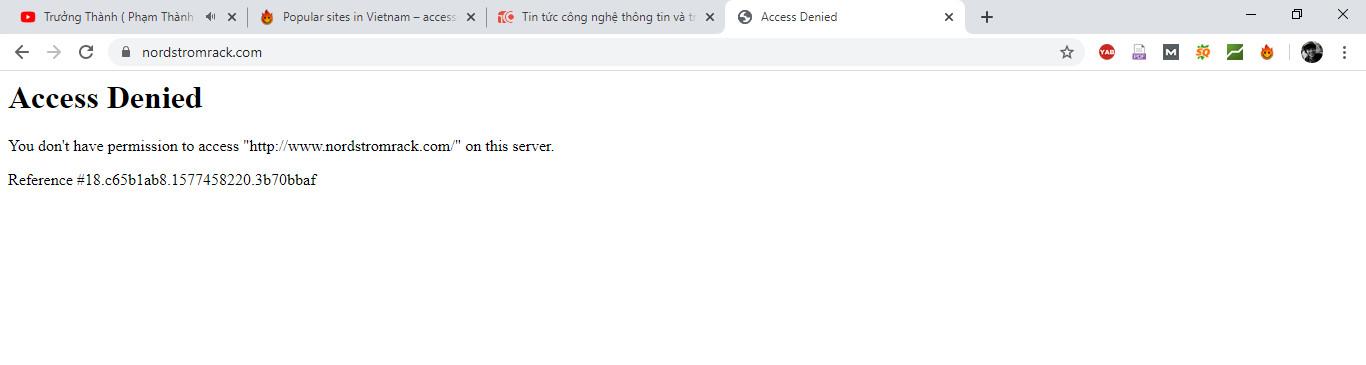 Truy cập website bị chặn tại Việt Nam bằng tiện ích trên Chrome