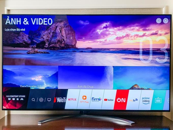 Các tính năng thông minh trên nền tảng WebOS của mẫu TV 8K này không khác nhiều các model 2019 khác của LG