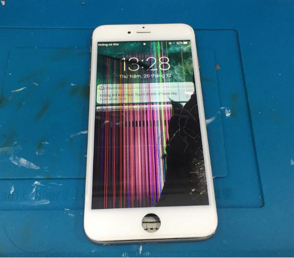 điện thoại, iPhone, sọc màn hình.