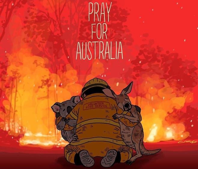 Đợt cháy rừng khủng khiếp tại Australia những ngày qua được xem là thảm họa đau lòng và thu hút sự chú ý của cộng đồng mạng thế giới.