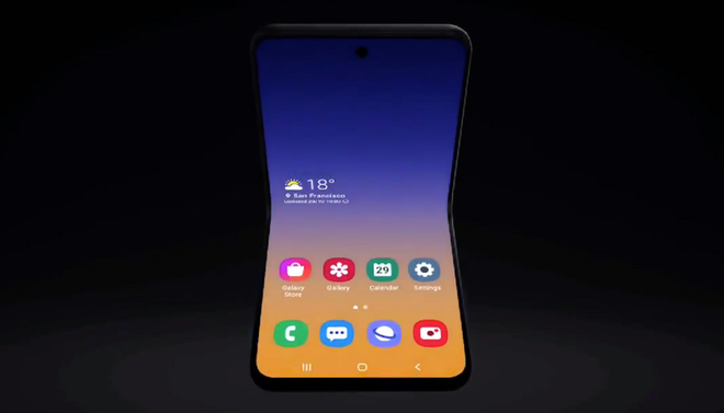 Smartphone màn hình gập vỏ sò của Samsung sẽ có tên là Galaxy Bloom, lấy cảm hứng thiết kế từ hộp phấn trang điểm - Ảnh 1.