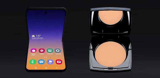 Smartphone màn hình gập vỏ sò của Samsung sẽ có tên là Galaxy Bloom, lấy cảm hứng thiết kế từ hộp phấn trang điểm - Ảnh 3.