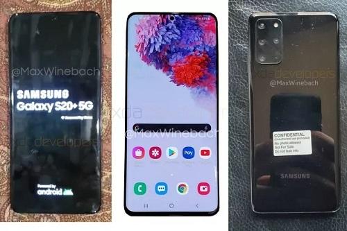 Loạt ảnh rò rỉ của thiết bị được cho là Galaxy S20+ 5G. Ảnh: The Verge.