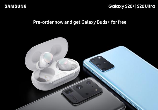 Tai nghe Galaxy Buds+ là quà tặng kèm chủ sở hữu Galaxy S20