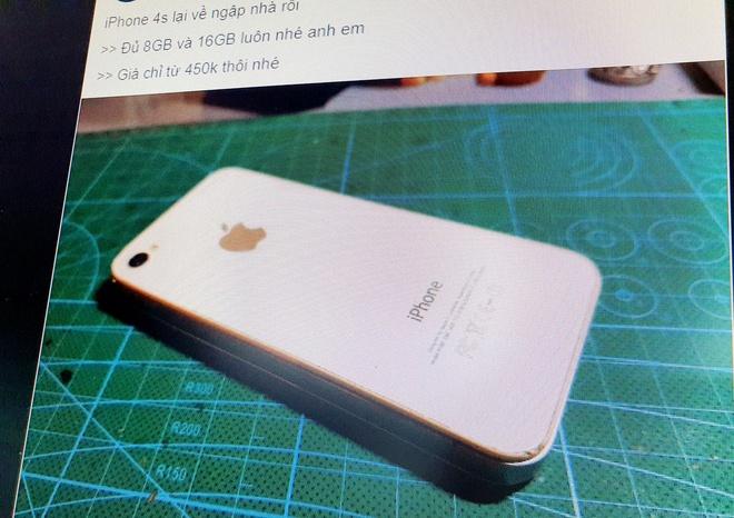 iPhone 4S qua sử dụng đang được chào bán giá từ 450.000 đồng.