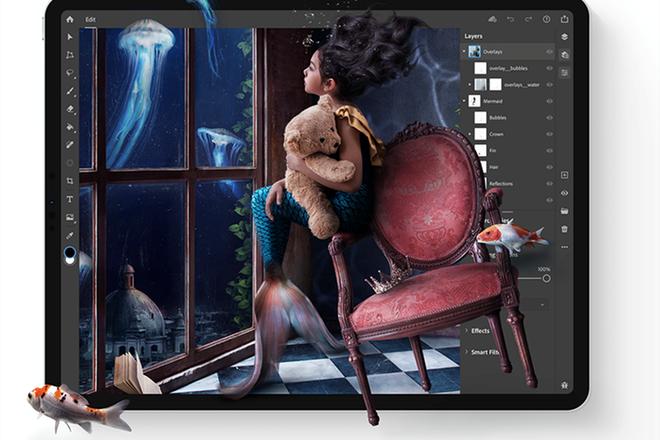 Adobe phát hành Photoshop phiên bản hoàn chỉnh cho iPad - Ảnh 1.