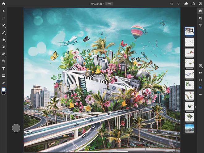 Adobe phát hành Photoshop phiên bản hoàn chỉnh cho iPad - Ảnh 2.