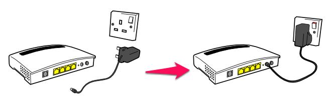 Khởi động lại Router hoặc Modem