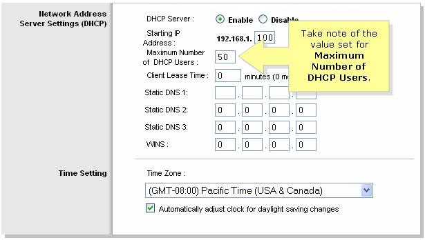 Tăng số lượng người dùng DHCP