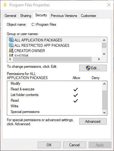 Kiểm tra quyền trong hệ thống file