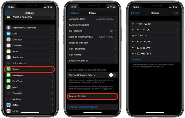 Kiểm tra số FaceTime bị chặn trên iPhone và iPad