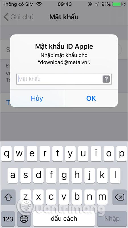 Mật khẩu Apple ID