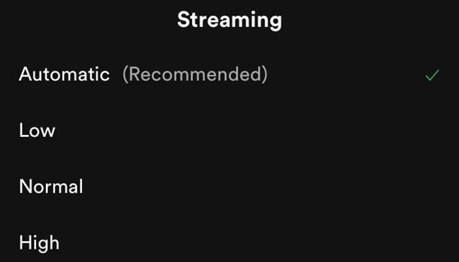 Các cài đặt chất lượng âm thanh của Spotify