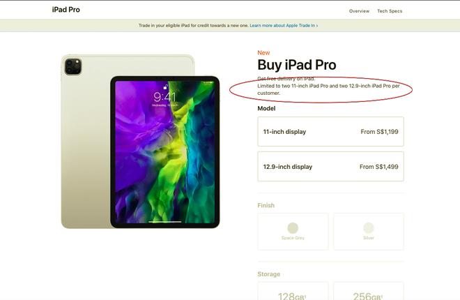 Nguồn cung khan hiếm, Apple chỉ cho người dùng mua tối đa 2 chiếc iPhone, iPad cùng lúc - Ảnh 2.