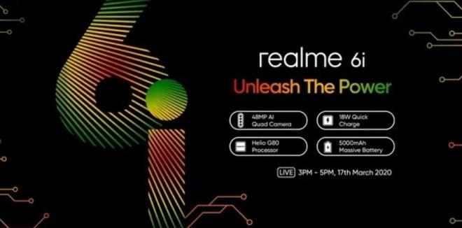 Realme 6i sắp ra mắt: Máy đầu tiên chạy chip Helio G80, camera selfie 16MP, pin 5.000mAh? - Ảnh 1.