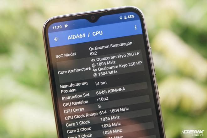 Vsmart Joy 3 được trang bị con chip Snapdragon 632