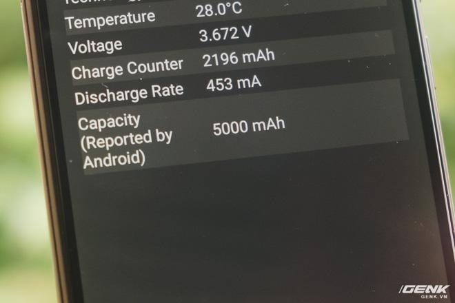Viên pin 5000mAh hỗ trợ cả sạc nhanh Quick Charge 3.0