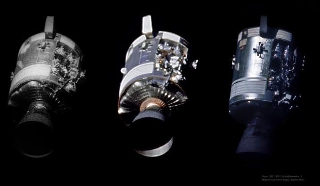 Anh chàng này tái hiện những bức ảnh trên tàu Apollo 13 với độ nét cực cao chỉ bằng cách chồng ảnh lên nhau - Ảnh 3.