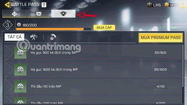 các bậc rank battle pass cod mobile